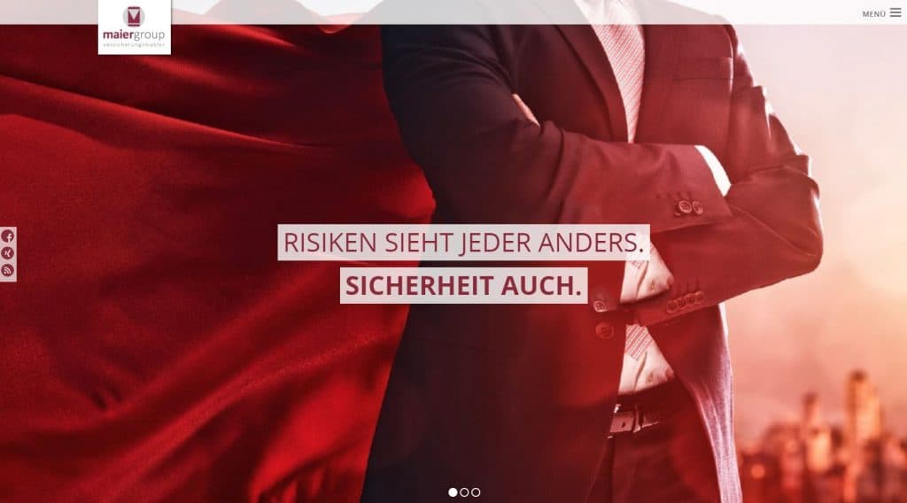 Website der maiergroup im neuen Look